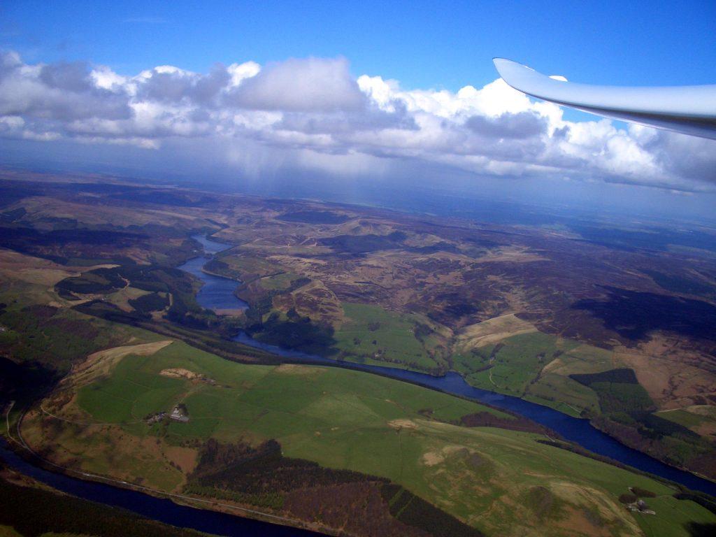 Derwent valley seen from above Winn Hill